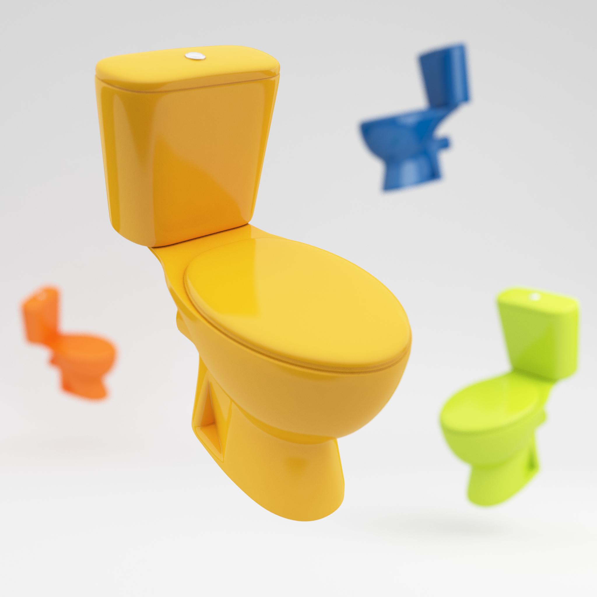 Mes toilettes mon wc ma cuvette enfin en couleur - Peinture dans les toilettes ...