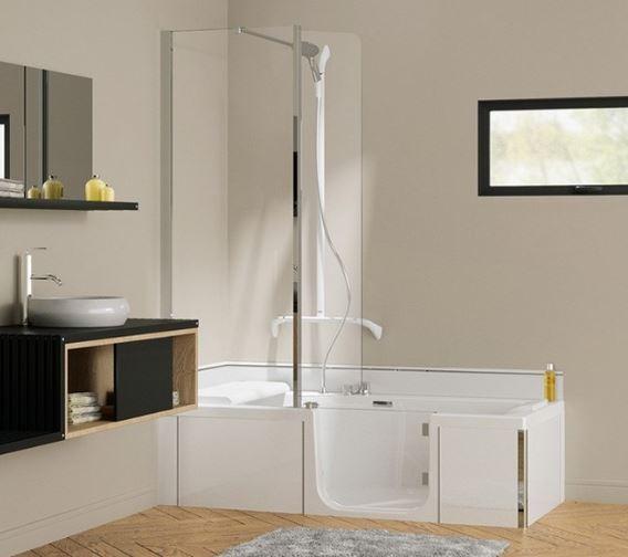 vous h sitez entre la baignoire ou la douche avec duo de. Black Bedroom Furniture Sets. Home Design Ideas
