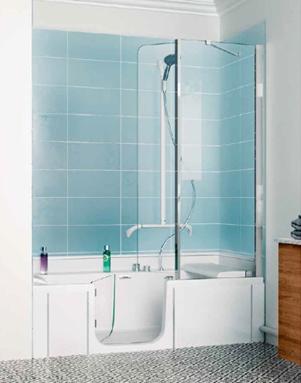 vous h sitez entre la baignoire ou la douche avec duo de kinedo fini les compromis. Black Bedroom Furniture Sets. Home Design Ideas