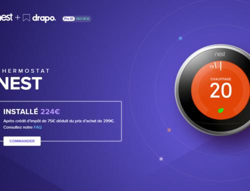 Le « Pack Thermostat NEST » de DRAPO avec Pajot Chénéchaud