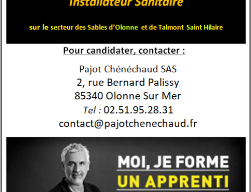 Pajot Chénéchaud recherche un apprenti en CAP Installateur Sanitaire