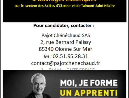 Pajot Chénéchaud recherche un apprenti en électricité