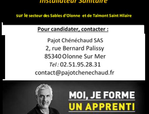 Pajot Chénéchaud recherche un apprenti en Plomberie-Sanitaire